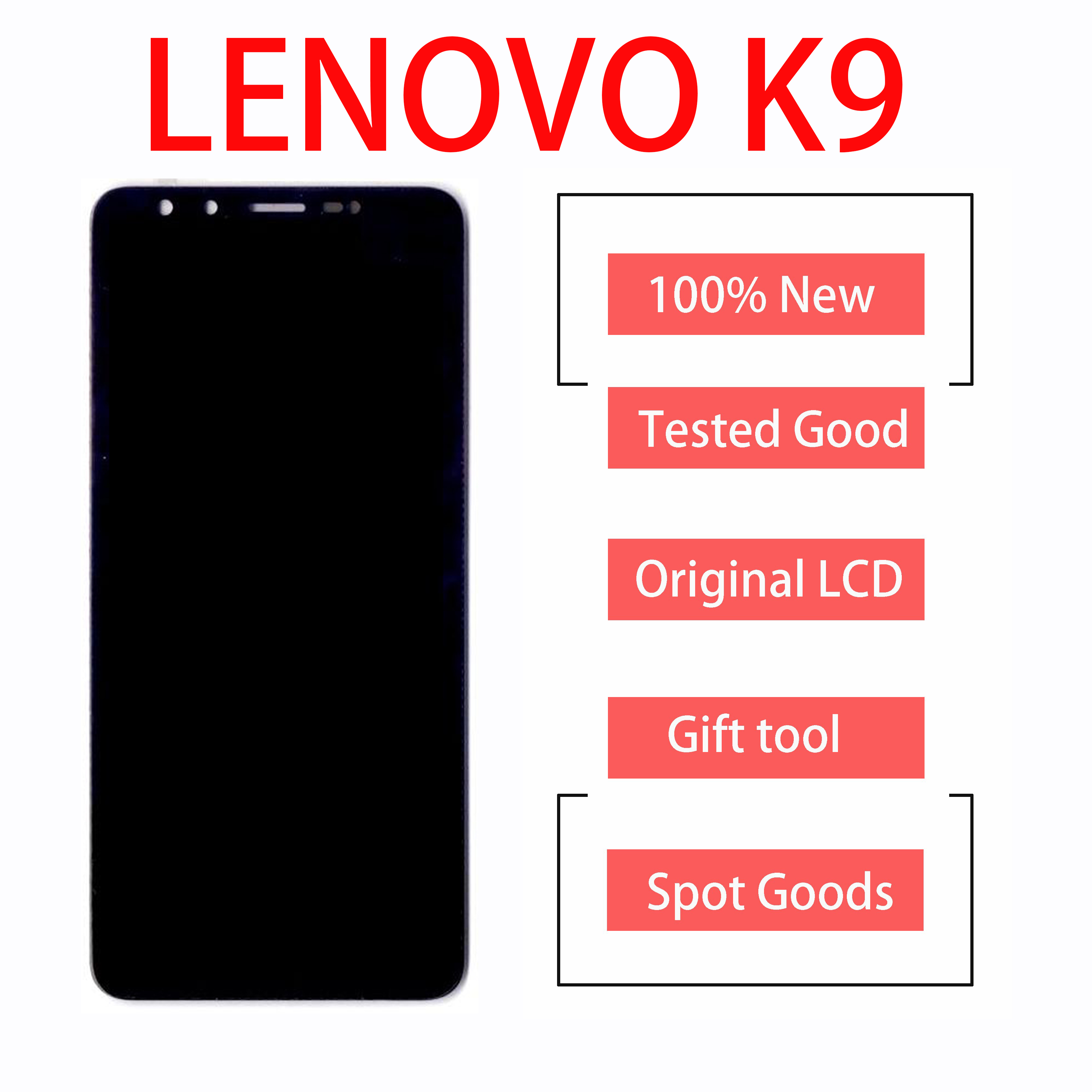 Original 5.7 Inch For LENOVO K9 L38043 LCD Display With Touch Screen Digitizer Glass  Assembly Parts For LENOVO K 9