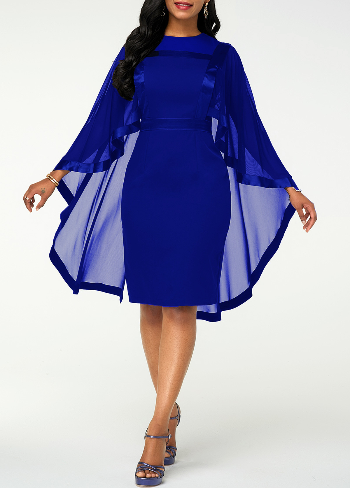 BGW Round Neck Chiffon Mother Of The Bride Dresses Half Sleeves Real Photos Mom Dress Solid Color PLus Size 2019