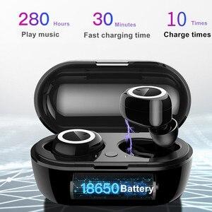 Image 2 - Wireless Earphones Bluetooth 5.0 Handsfree Headphone Stereo Headset sport Earbuds Earphone with Mic For iPhone Samsung Xiaomi