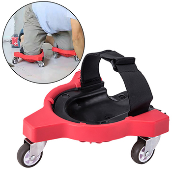 1 pair Wheels Knee Pads Rolling Wheels Mobile Flexible Gliding for Job Site laying tile vinyl auto repair protecting