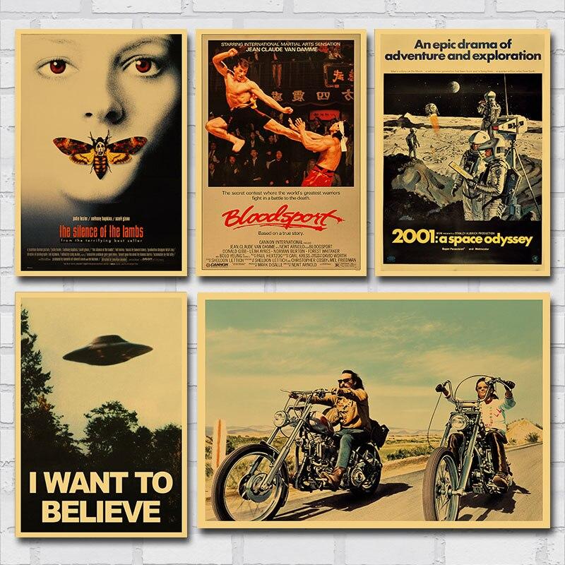 Almak istiyorum inanıyorum X dosyaları kolay binici Mad Max klasik film Poster Vintage tuval baskı Retro duvar sanat resmi boyama