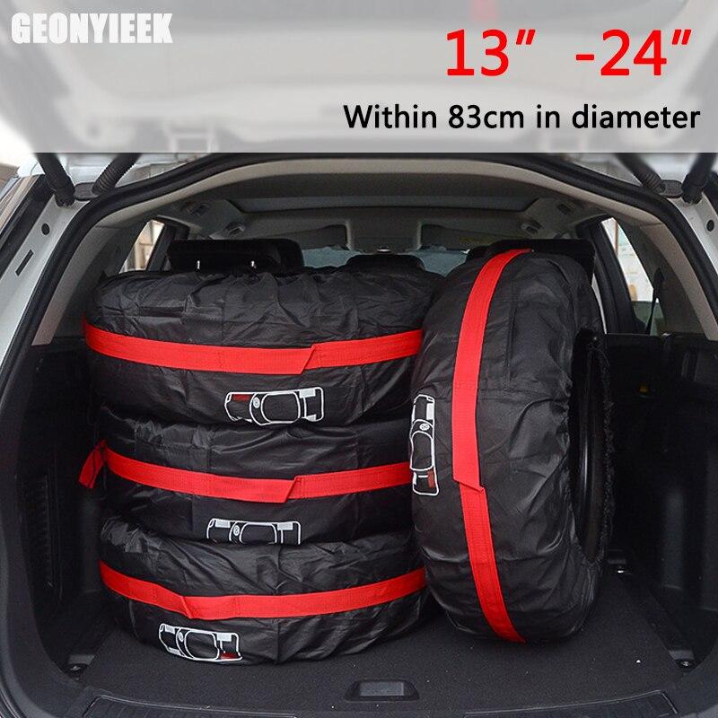 1 pièce/4 pièces housse de rechange pour pneus de voiture Polyester Auto roue pneus sacs de rangement accessoires de pneus de véhicule étanche à la poussière protecteur style