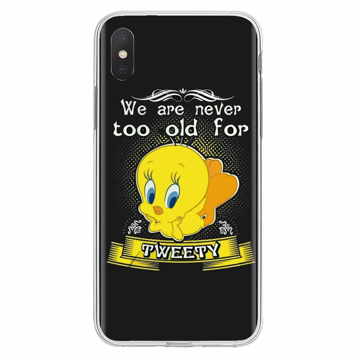 looney tunes Tweety Bird For iPhone 11 Pro 4 4S 5 5S SE 5C 6 6S 7 8 X XR XS Plus Max For iPod Touch Colorful Silicone Phone Case