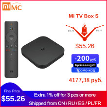 Oryginalny globalny Xiaomi Mi TV Box S 4K Ultra HD Android TV 9.0 HDR 2G 8G WiFi Google obsada Netflix Smart TV Mi Box 4 odtwarzacz multimedialny(China)