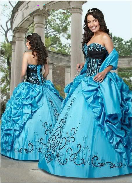 Custom Made Sexy Sweetheart Vestido De Festa Embroidery Beading Quinceanera Ball Prom Party Gown Mother Of The Bride Dresses
