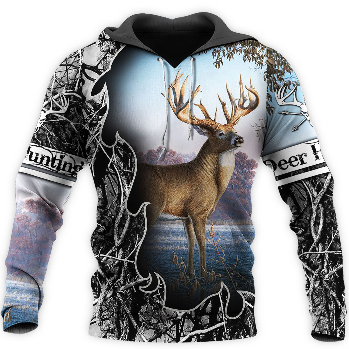 Camo AMO HUNTING ANIMALS Deer ART 3D Hoodies Hoodie Men Women New Fashion Hooded Sweatshirt Long Sleeve Casual Pullover-4