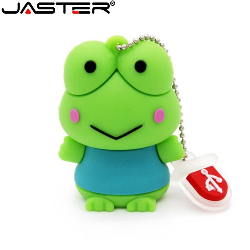 JASTER Fashion Animal Cute  Frog USB Flash Drive Pen Drive Gift Hot Sale Cartoon Pendrive 4GB/16GB/32GB/64GB USB 2.0 Wholesale