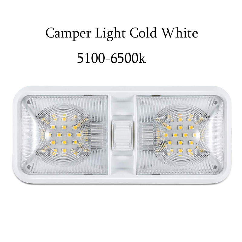 12 V LED RV Ceiling Dome Light RV Interior Lighting For Trailer Camper With Switch Cold White Camper Car Accessories