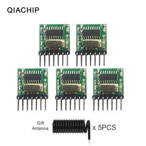 QIACHIP 5pcs Universal Wireless RF Transmitter 1527 Encoding Module 433.92Mhz Mini Remote Control PCBA For Arduino gift antenna(China)