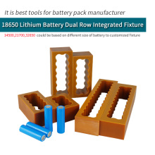 18650 Battery Dual Row Fixture Fixed For Spot Welding Lithium Battery Pack Weld Fixture Spot welder Batteries Fixed
