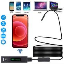 Камера-Эндоскоп для Iphone, IOS и Android, wi-fi, водостойкая, IP67, HD 1200P