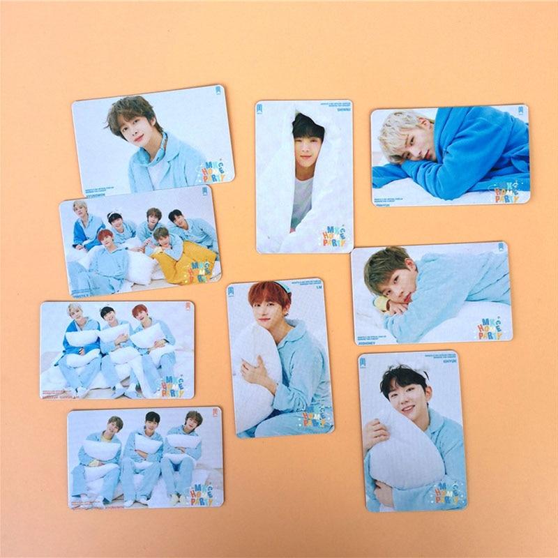 Kpop Monsta X 9pcs/set Double Sides LOMO Card New Album FANTASIA X Photocard Fans Collection Felix I.M Jh293