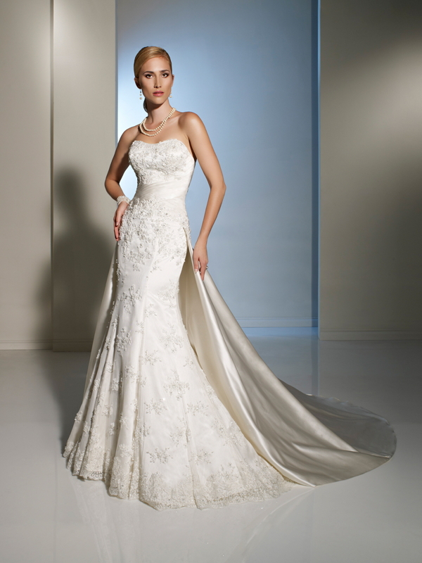 Free Shipping Top Quality Lace Mermaid Wedding Dress With Detachable Chapel Train Corset Destination Bridal Gown