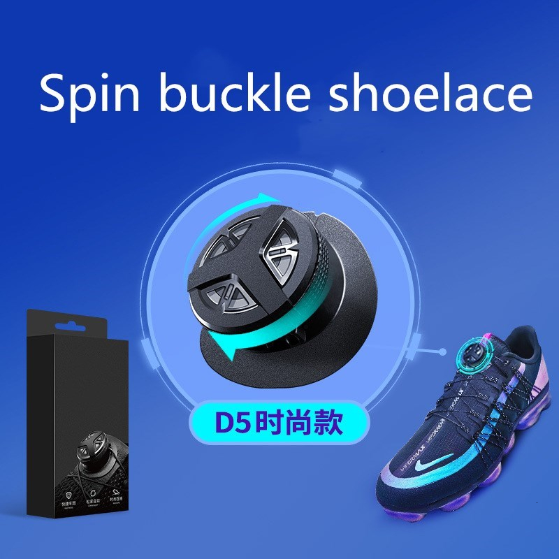 Outdoor Sport Rapid Shoelace Strong Durable Automatic Spin Buckle Anti-off Convenience Hiking Climbing Cotton And Linen Shoelace