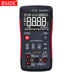 Cyfrowy multimetr BSIDE ZT X 9999 liczy 3 Line potrójny wyświetlacz multimetr temperatury ohm miernik testowy woltomierz amperomierz RM409B w Mierniki wielofunk. od Narzędzia na