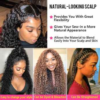 Beauty Forever Malaysian Curly Hair PU Silk Base Closure 4*4 Free/Middle Part 100% Remy Human Hair Lace Closure 10-20 inch