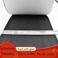 20cm szerokość samoprzylepna taśma Velcros magiczne haczyki zapięcie pętli pasek na zasłona Sofa DIY akcesoria do szycia