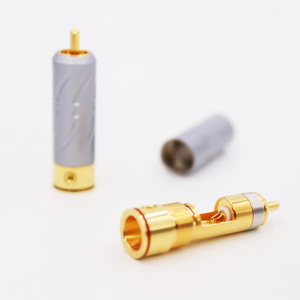 Image 2 - 2Pieces High Quality VR109G Pure Copper Gold Plated RCA Plug Connector hifi Audio RCA Plug connector audiophile cable Plug
