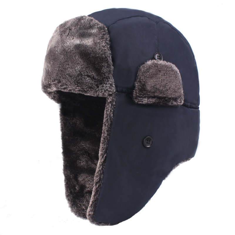 Thick Plush Bomber Hat Warm Winter Hat For Men Women Trapper Trooper Hats Ear Protect Russian Snow Caps Earflap Bonnet