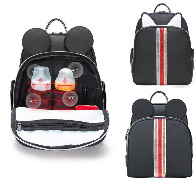 Fashion Backpack For Baby Care Back Milk Bag Multi-function Large Capacity Waterproof Diaper Bag Out Insulation Pram Bag