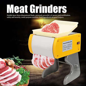 Small Electric Slicing Cutter Home Completely Automatic Meat Cutting Machine Kitchen Meat Chopper Appliances AU Plug 220V meat grinders bosch mfw3630a home kitchen appliances electric chopper