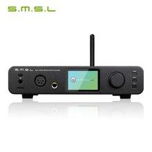 Smsl amplificador de fone de ouvido dp3 dsd, hifi digital giratório, disco rígido equilibrado e desequilibrado, rede wi fi, tocador de música