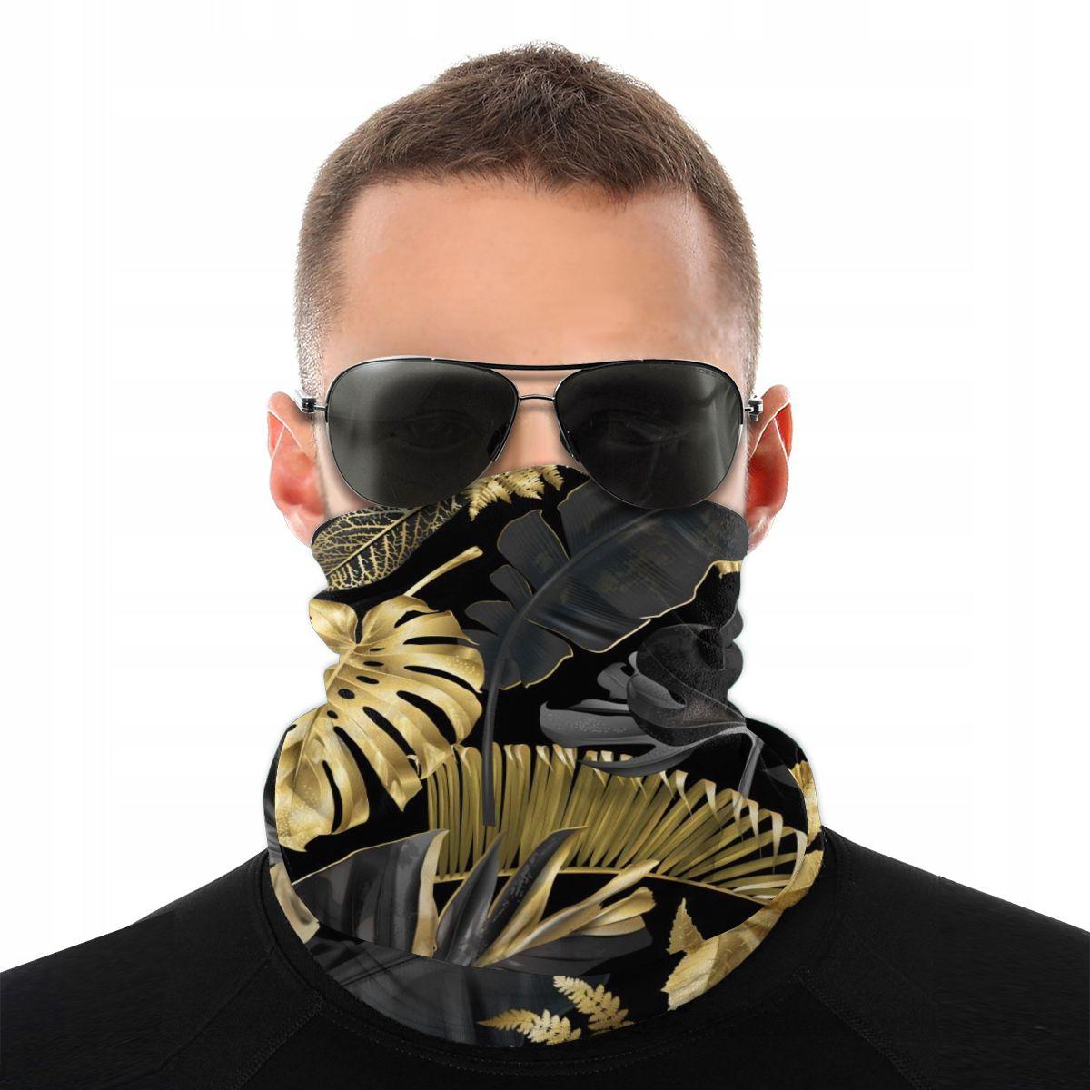 Bandana Neck Gaiter Headband Cycling Fishing Mask Scarf BotanicalTropical Leaves Multifunctional Outdoor Headwear