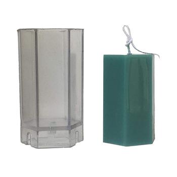 Nowe sześciokątne formy świec plastikowa świeca pieńkowa zestaw do robienia dużych cylindrów żebra do odlewania świec formy świeca diy akcesoria do rękodzieła tanie i dobre opinie Hexagon Candle Mold