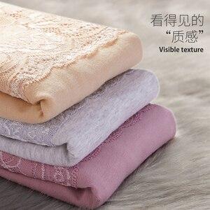 Image 5 - 3 יח\חבילה נשים כותנה תחתוני תחרה גבוהה מותניים עלייה תחתוני גוף בעיצוב הלבשה תחתונה לנשימה נשי הרזיה בטן בקרת צפצף