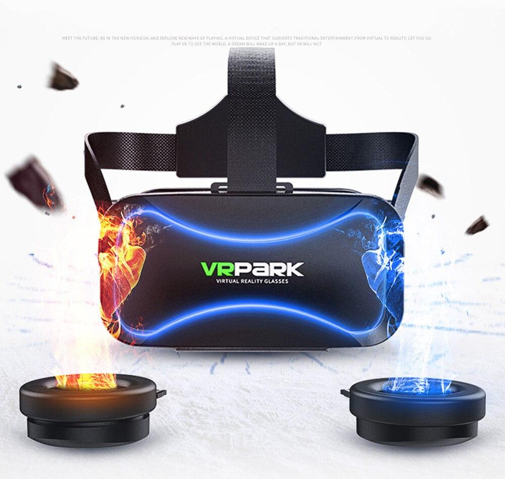 Gafas 3D VR Realidad Virtual gran angular Pantalla completa Gafas de realidad Virtual para Android IOS Smartphone con gafas de auriculares 5 mW 5 KM localizador de fallas visuales equipo de prueba de Cable láser de fibra óptica