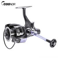 COONOR 3000-6000 Series 4.7:1 Metal Spool Spinning Fishing Reel 11+1BB Pre/Post-loading Fishing Wheel Max Drag 7.5kg Sea Fishing