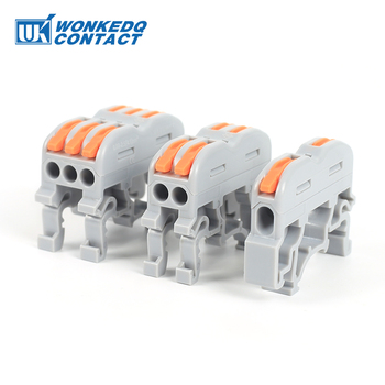 цена на Din Rail Wire Connector Terminal Block PCT Quick Wiring Compact Splicing Conductor  Fast Cable Connector Terminals  10pcs