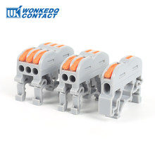 Din Rail Wire Connector Terminal Block PCT Quick Wiring Compact Splicing Conductor Mini Fast Cable Connector Terminals 10pcs