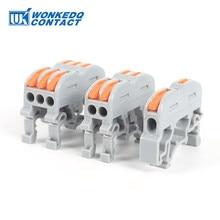 Conector de Cable de carril Din, bloque de Terminal PCT, cableado rápido, compacto, empalme, miniterminales de Cable rápido, 10 Uds.