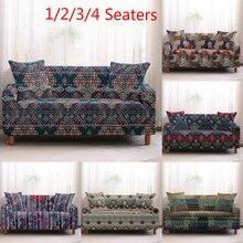 Funda de sofá de mandala vintage fundas de sofá de algodón fundas de sofá para sala de estar sofá funda de sofá 1/2/3/4 plazas