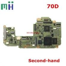 Second Hand สำหรับ Canon 70D เมนบอร์ดเมนบอร์ดเมนบอร์ดบอร์ดแม่หลัก DRIVER PCB กล้องอะไหล่ทดแทน