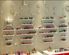 Nail display cabinet, iron shelf, nail polish, plastic shelf, perfume rack.