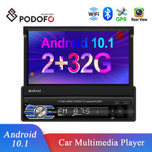 Podofo Android 1Din Auto Stereo Radio 2 + 32G 7'' Versenkbare Bildschirm Multimedia Audio MP5 Player GPS Wifi Bluetooth USB FM Empfänger