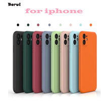 Luxury Original Liquid Silicone Case for Apple iPhone12 11 Max pro mini X XR MAX XS SE 2020 6 7 8 6S Plus Shockproof Cover Case
