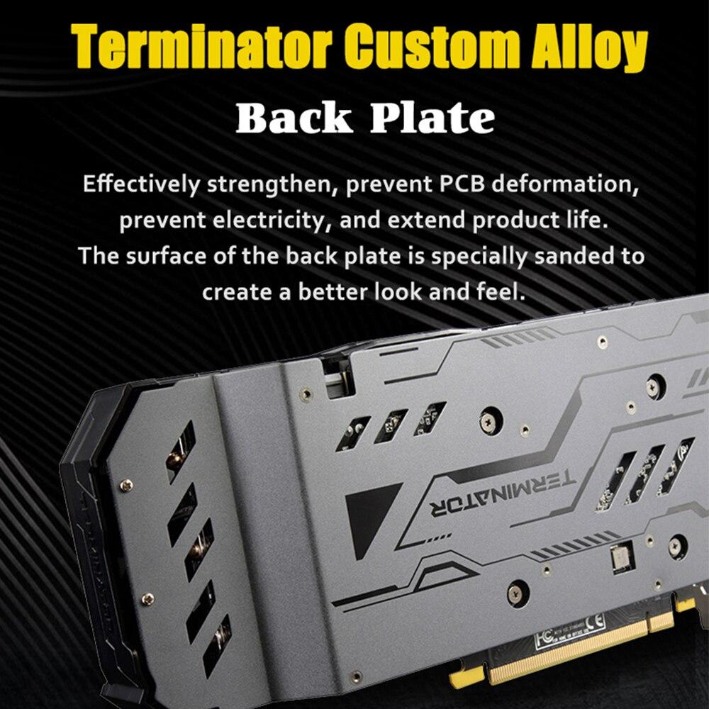 Image 4 - MAXSUN karta graficzna gtx 1660 Terminator 6G GDDR5 NVIDIA 192bit 8000MHz 1530MHz turinga TU116 12nm HDMI DP DVI gtx1660 karty graficznejKarty graficzne   -