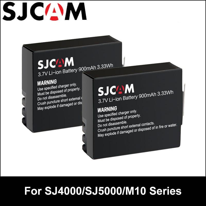 2PCS SJCAM Battery 3.7V Li-ion 900mAh Backup Rechargable Batteries For SJCAM SJ4000 SJ5000 SJ5000X Elite M10 WiFi Action Camera