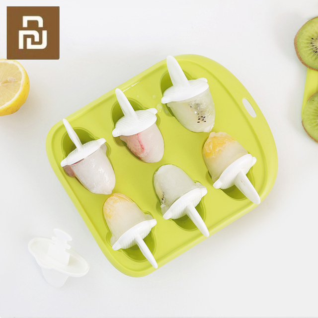 Youpin 6 Grids Food Grade Icy Tray Cute Whale Shape Ice Cream Popsicle Mold Creative Small Fruit Ice Cube Maker For Kitchen