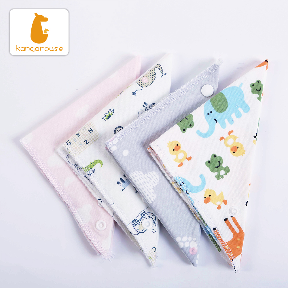 Image 4 - Kangarouse Cotton Bandana Bibs Baby Babador Infant Burp Cloths  Saliva Towel Baby Eating AccessoryBibs & Burp Cloths   -