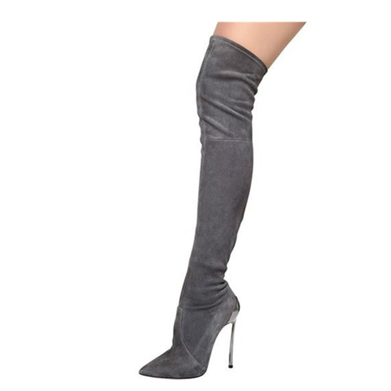 New 32-46 Sexy Over The Knee Thigh High Boots Women 2020 Autumn High Heels Party Evening Shoes Woman Platform Boots