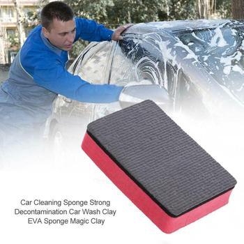 Nowa glinka samochodowa podkładka pod kieliszek blok z gąbki czyszczenie gumka woskowany lakier Pad narzędzie gąbka do mycia samochodu gąbki tkaniny szczotki tanie i dobre opinie JOSHNESE CN (pochodzenie)
