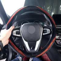 Car Steering Wheel Cover Anti Slip Auto Accessorie for Peugeot 406 407 508 3008 4007 4008 5008 307 Sw 308 Sw Car Styling