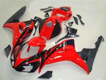 Injection molding ABS full fairing kit fit for Honda black red CBR1000RR 06 07 fairings set CBR 1000RR 2006 2007 NV13