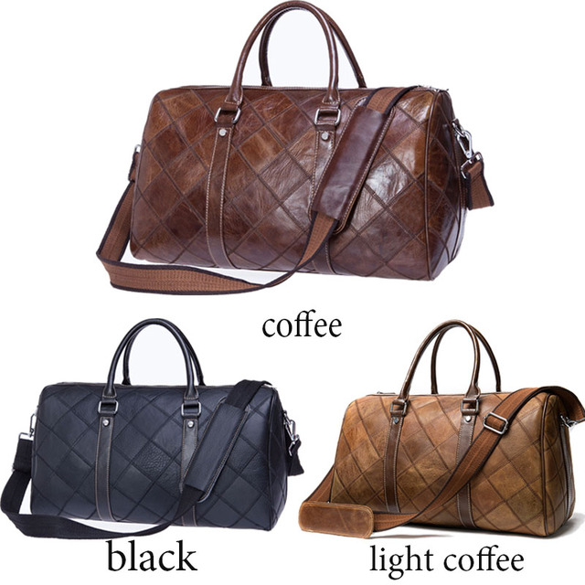 WESTAL Men's Travel Duffel Bag Genuine Leather Big Weekend Bags Large Totes Overnight Carryon Hand Bag Travel Bags Luggage 8883 3
