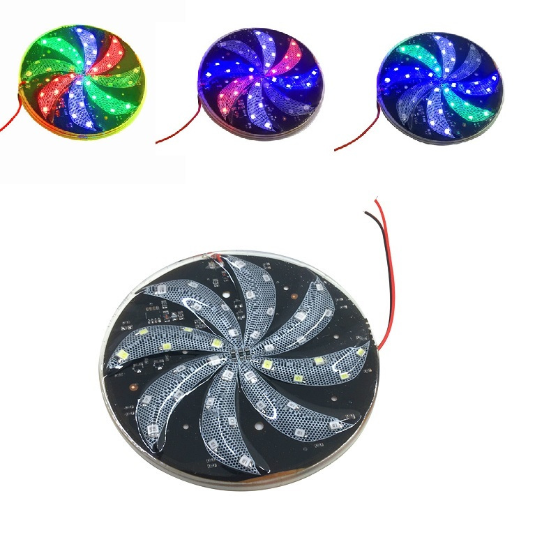 LED Warning Light Wind-fire Rings Hot Wheel For Motorcycle Motorbike Autocycle Truck Car