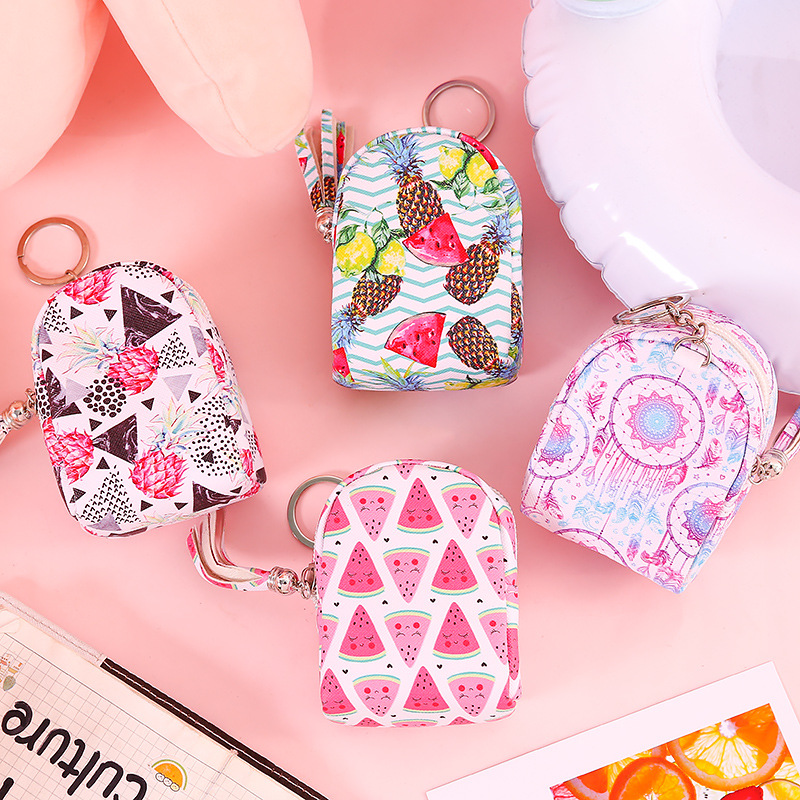 L0016 Korean-style Cute Key Children Purse Mini Fresh Small Bookbag Keychain Pendant Coin Bag